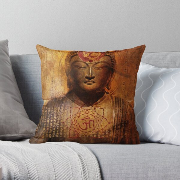 Lotus Sutra Throw Pillow