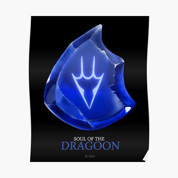 Seele des Dragoners - schwarz Poster