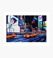 Times Square III aka Scream, New York City, USA Art Print