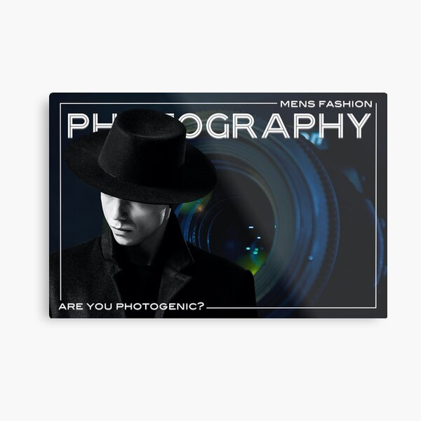 Mens Fashion Photography Are You Photogenic? Metal Print