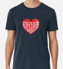Love Archers Dum Di Dum Heart Design Radio Premium T-Shirt