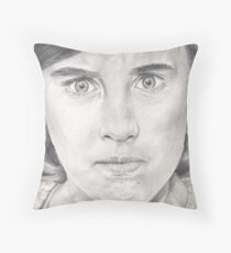 I'm NOT angry!!! Throw Pillow