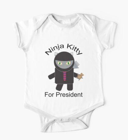 Ninja Kitty for President  Kids Clothes