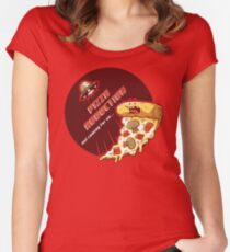 Pizza Abduction Women's Fitted Scoop T-Shirt