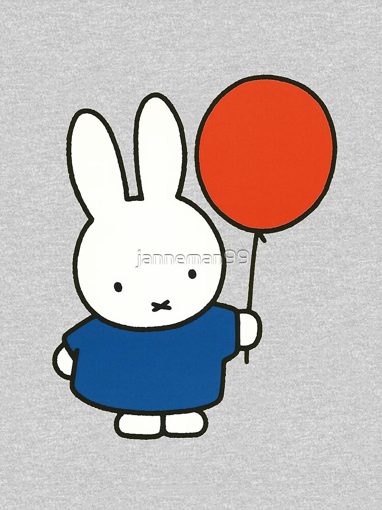Nijntje - Miffy with a balloon by janneman99