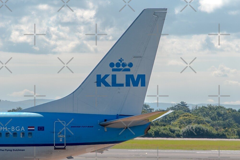 KLM Royal Dutch Airlines Boeing 737 tail livery  by Russell102
