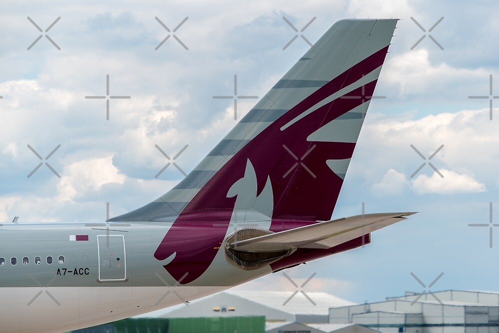 Qatar Airways Airbus A330 tail livery by Russell102