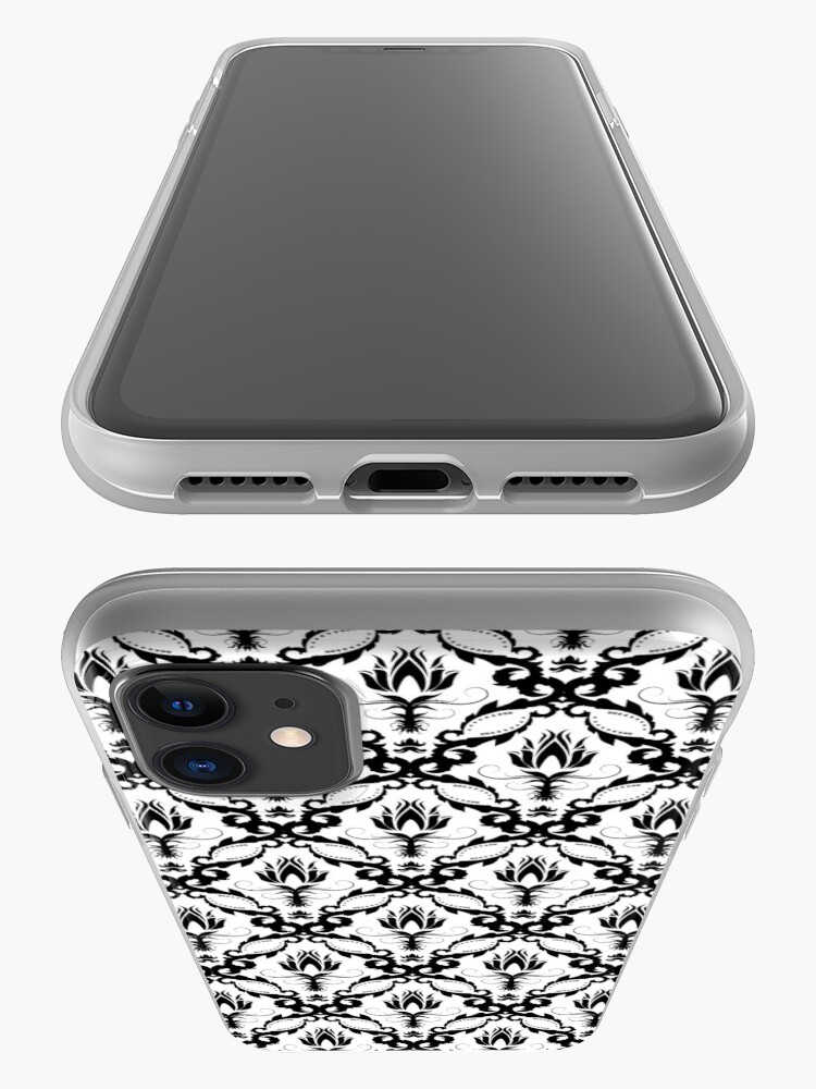 Alternate view of floral damask background iPhone Case & Cover
