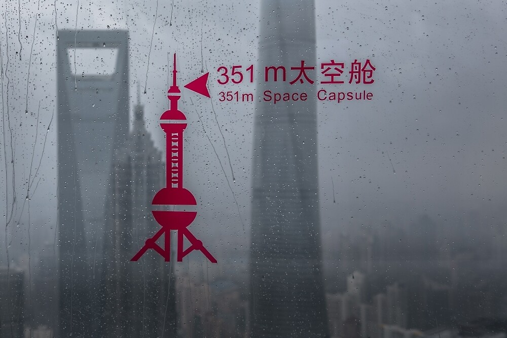 View from the Pearl Tower Shanghai  by Frank Moroni