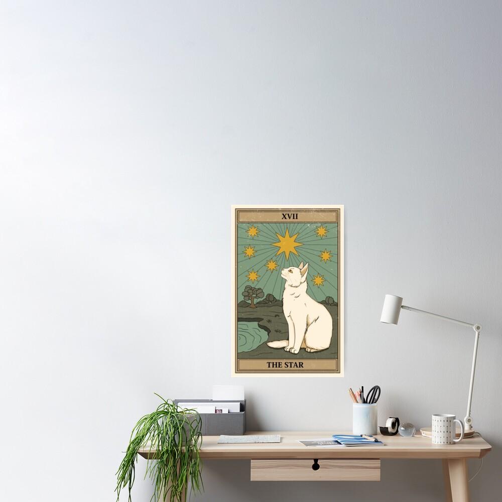 the star cat tarot Poster