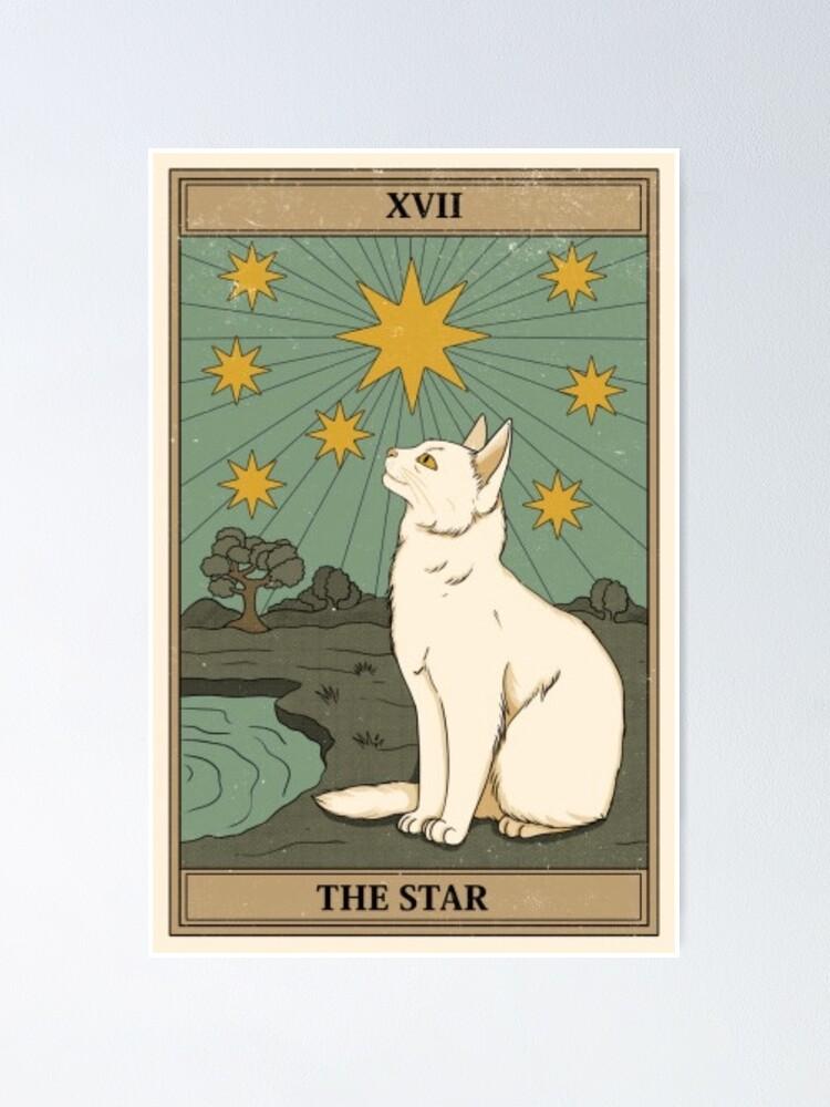 Alternate view of the star cat tarot Poster