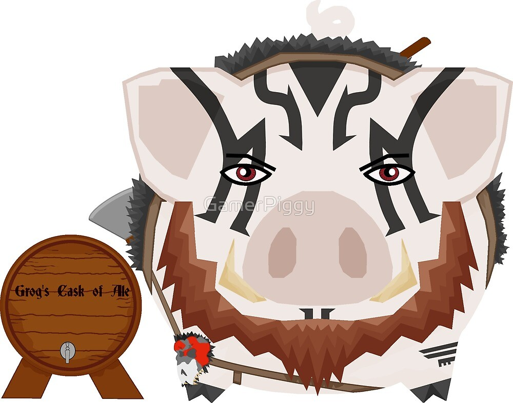 Grog with his Grog with Beard by GamerPiggy