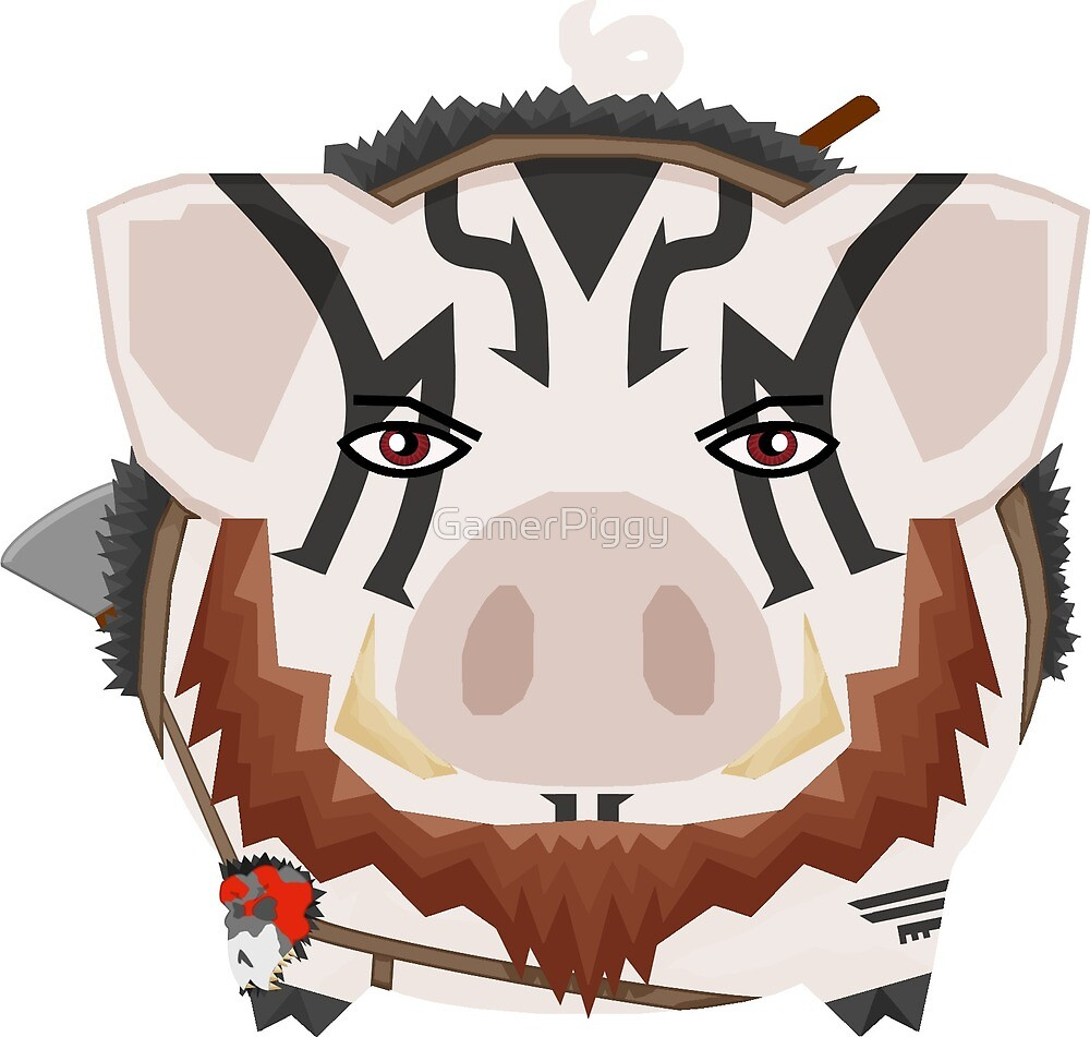 Grog with his beard by GamerPiggy