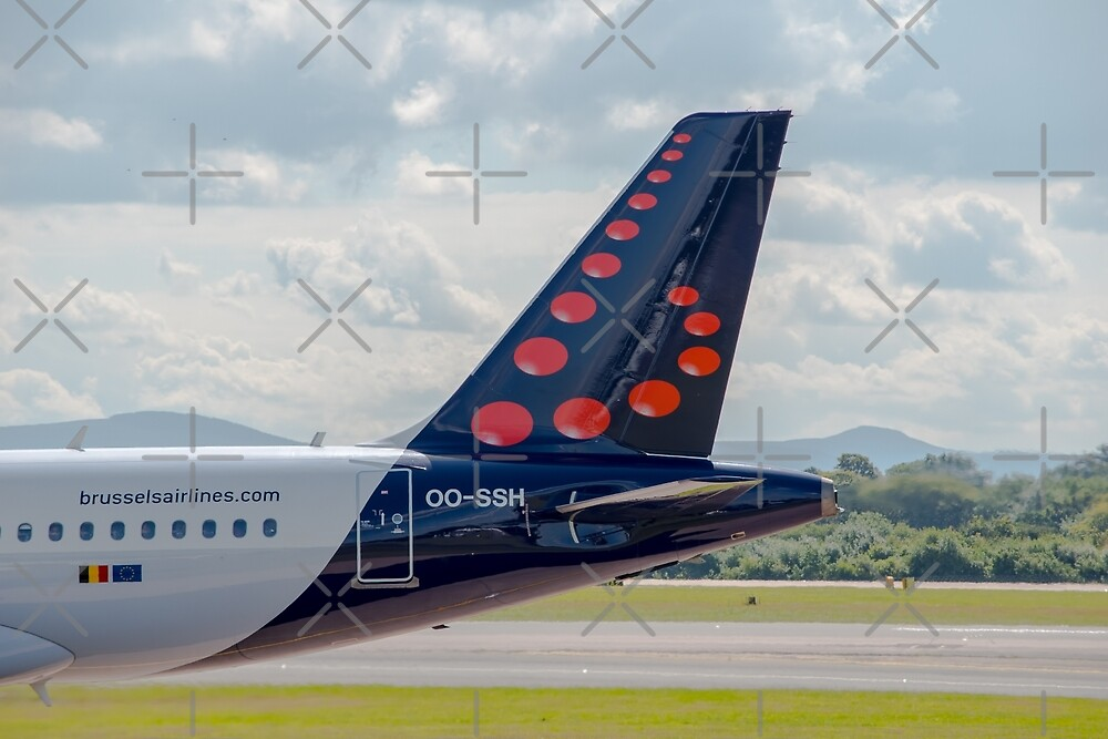 Brussels Airlines Airbus A319 tail livery  by Russell102