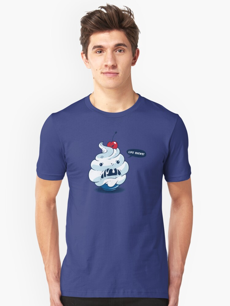 The angry ice cream Unisex T-Shirt Front