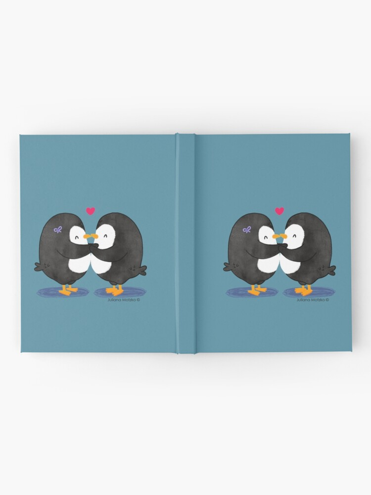Alternate view of Falling in Love Penguins Hardcover Journal