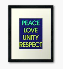 Peace Love Unity Respect (PLUR) Framed Print