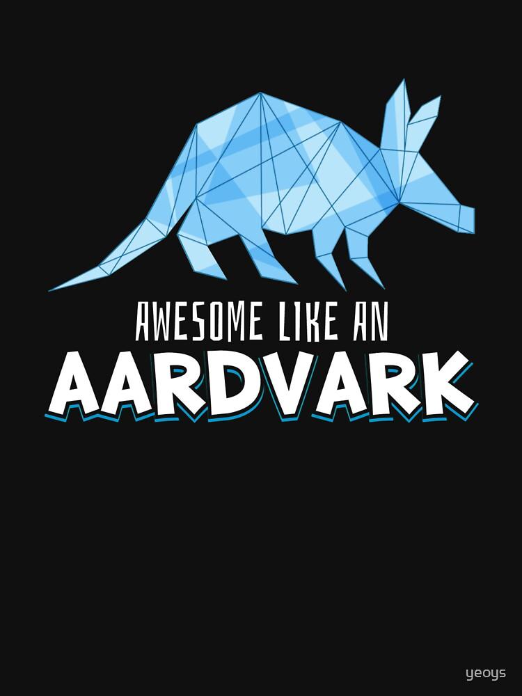 Animal Art - Awesome Like An Aardvark by yeoys