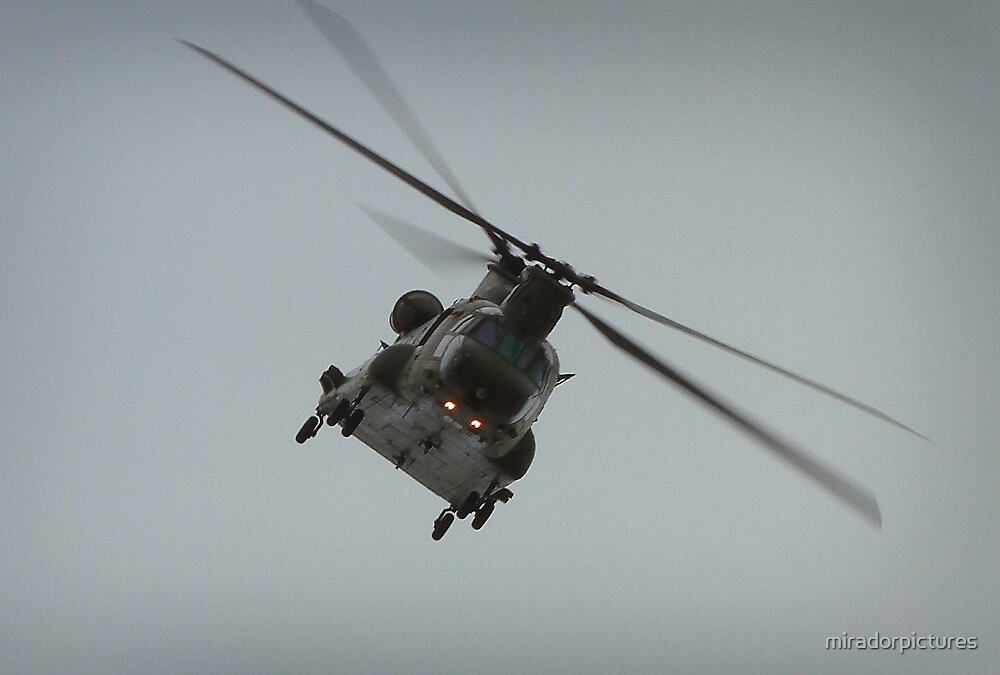 Coming closer the Goliath that is the Chinook  by miradorpictures