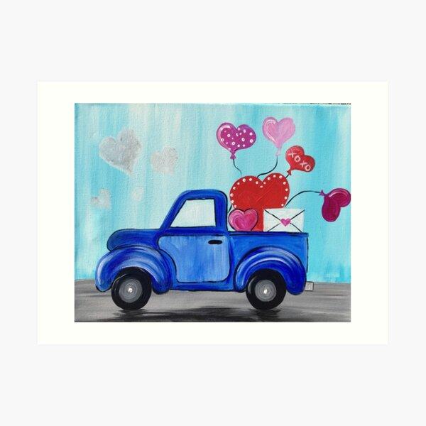 Love Truck Art Print
