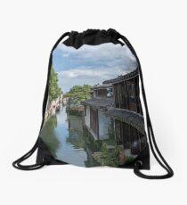 Water Village of Zhouzhuang Drawstring Bag