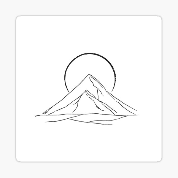 Mountains and Moons Sticker