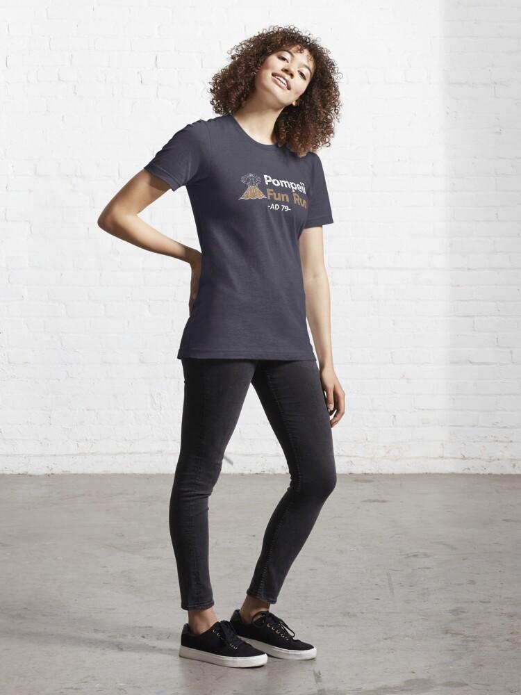 Alternate view of Pompeii Fun Run AD 79 - Funny Lava Volcano Essential T-Shirt