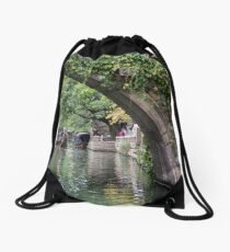 Water Village Zhouzhuang Drawstring Bag