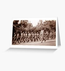 Japanese Prisoners of War, Bougainville, New Guinea (1945) Greeting Card