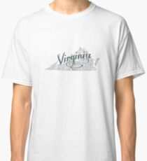 Virginia State Typography Classic T-Shirt