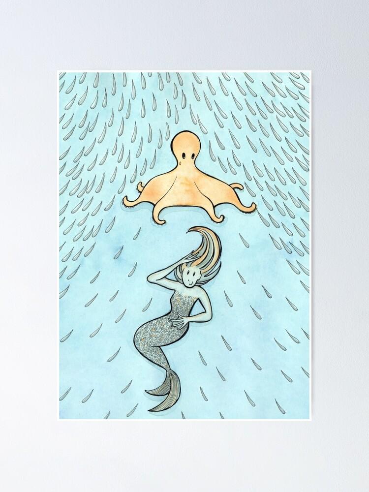 Alternate view of The Mermaid's Umbrella Poster