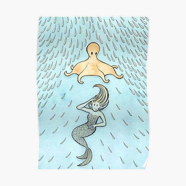 The Mermaid's Umbrella Poster