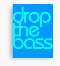 Drop The Bass (cyan) Canvas Print