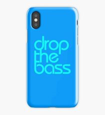 Drop The Bass (cyan) iPhone Case/Skin