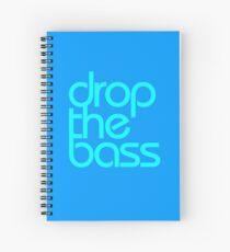 Drop The Bass (cyan) Spiral Notebook