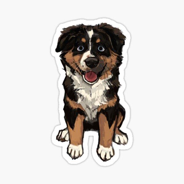 Smiley Aussie Pup  Sticker