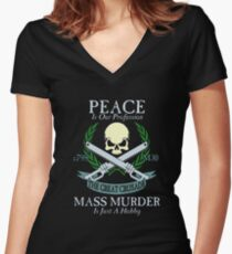 Peace is Our Profession... Women's Fitted V-Neck T-Shirt