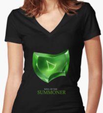Seele des Beschwörers - schwarz Tailliertes T-Shirt mit V-Ausschnitt