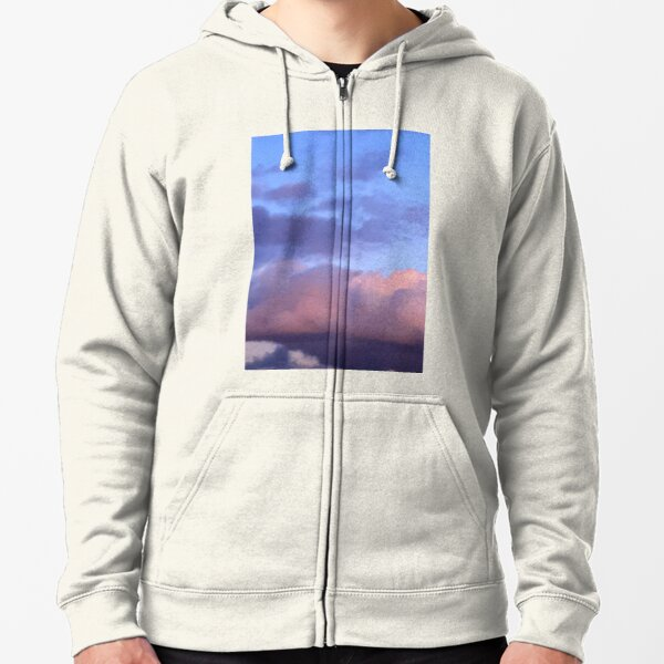 January Afternoon, Le Plessis Robinson  Zipped Hoodie