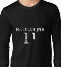 Neymar Jnr 11 - Black & White Long Sleeve T-Shirt
