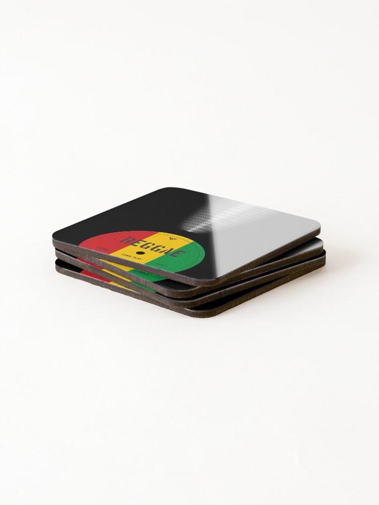 Alternate view of VINYL MUSIC / Reggae Coasters (Set of 4)