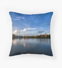 Kolkata Skyline (INDIA) Throw Pillow