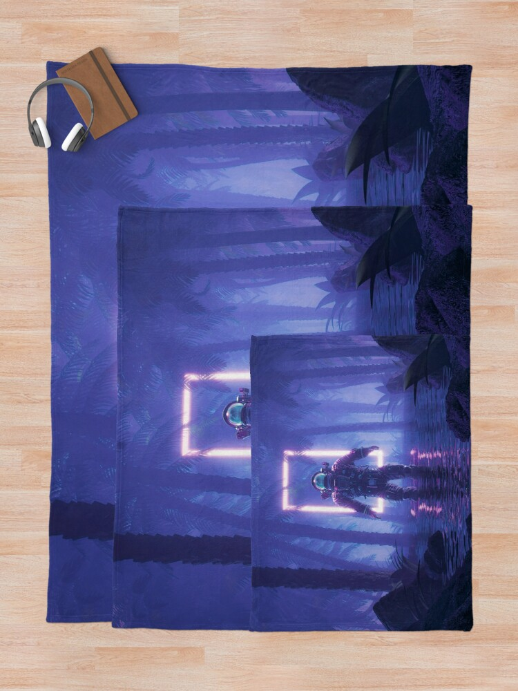 Alternate view of Lost In The Neon Jungle Throw Blanket
