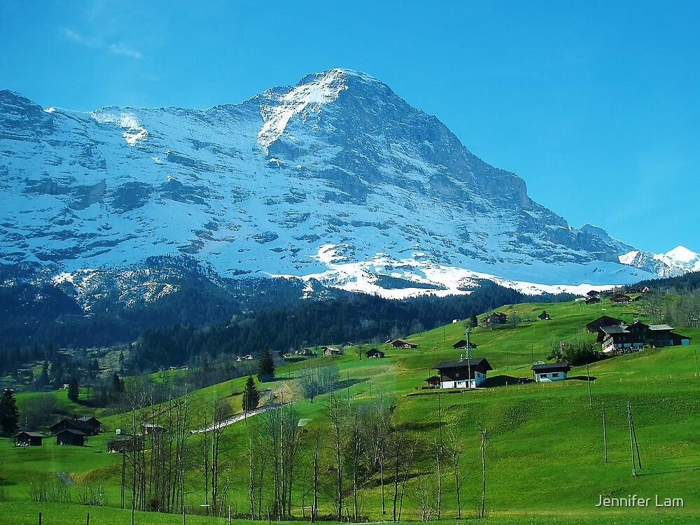 Refreshing Swiss Alps by Jennifer Lam