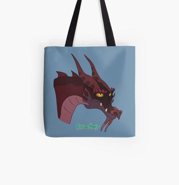 Rick and Morty - Dragon All Over Print Tote Bag