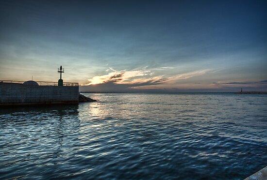 Sunset over Rimini by Davide Ferrari