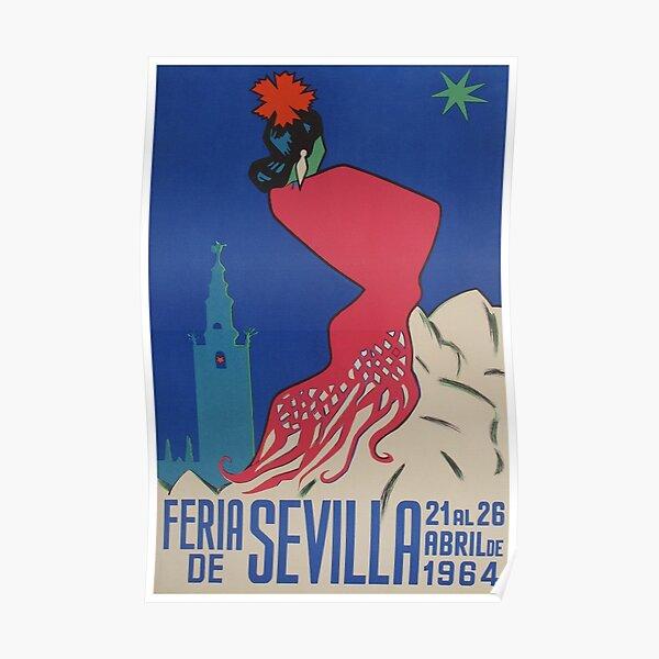 Feria de Sevilla, Spain, Vintage Travel Poster Poster