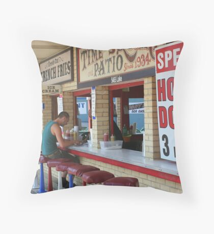 Three for Five Throw Pillow