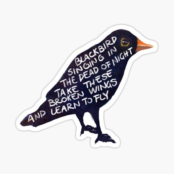 singing in the dead of night Sticker