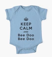 Keep Calm and Bee Doo Bee Doo One Piece - Short Sleeve